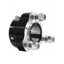 Rear hub 25x 75 black complete