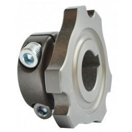 Metal front brake disc hub...