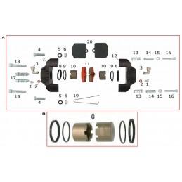 V08 rear brake pad